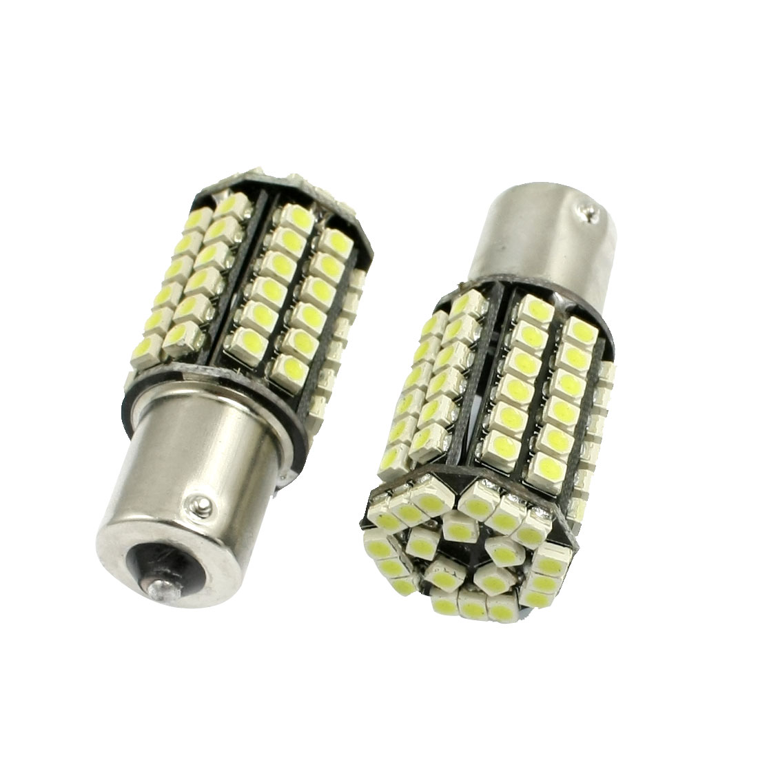 2 Pcs BA15S 1156 White 80 1210 SMD LED Turn Signal Tail Light Lamp