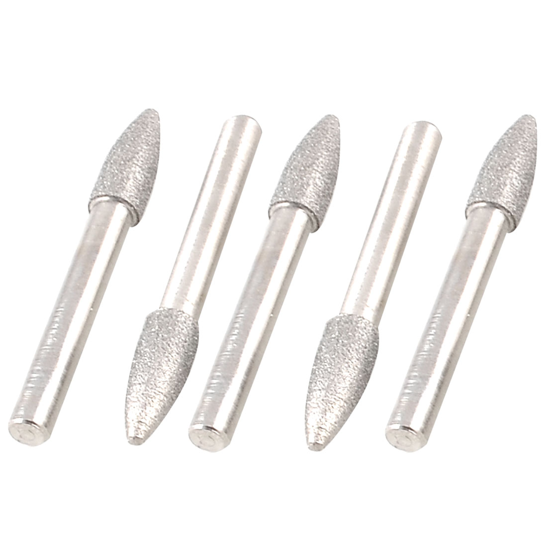 5 Pcs 8mm Taper Head 6mm Shank Polisher Diamond Mounted Point Grinding Bits