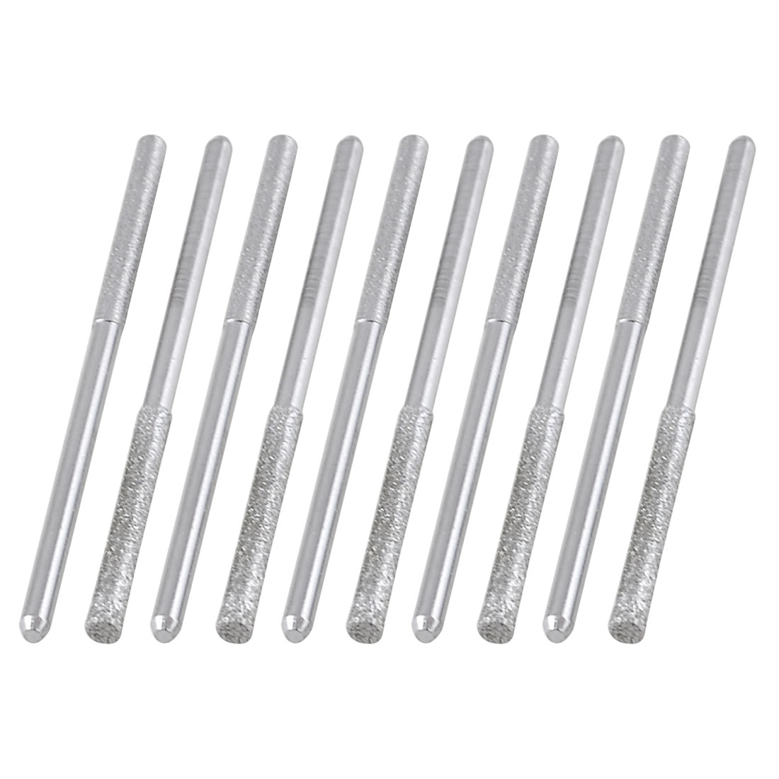 10 Pcs Cylindrical Nose Alloy Shank Polisher Diamond Mounted Points 28mmx3mmx3mm