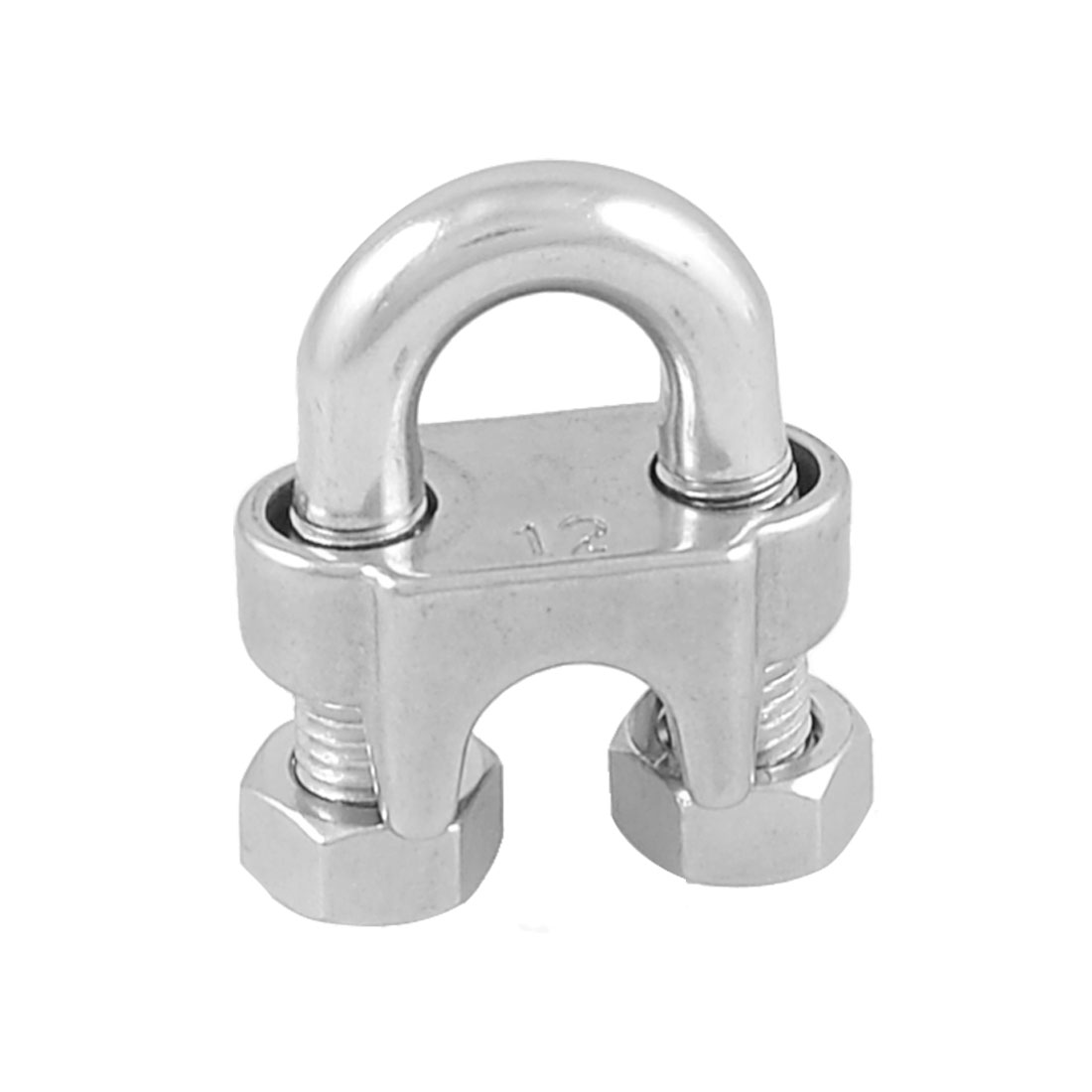 "Stainless Steel Saddle Clamp Cable Clip for 15/32"" 12mm Wire Rope"