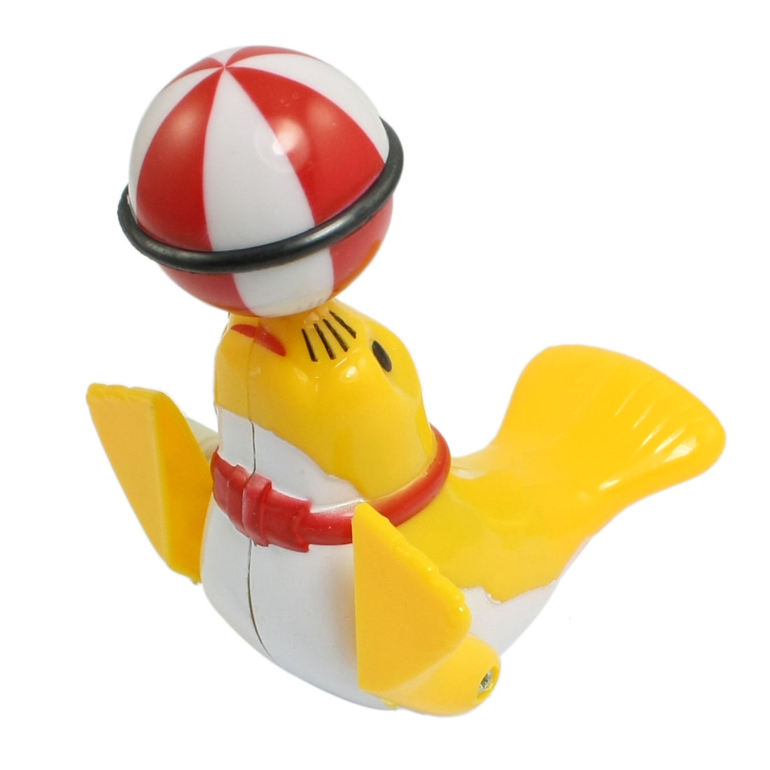 Yellow Plastic Sea Lion Playing Ball Design Wind Up Toy for Children