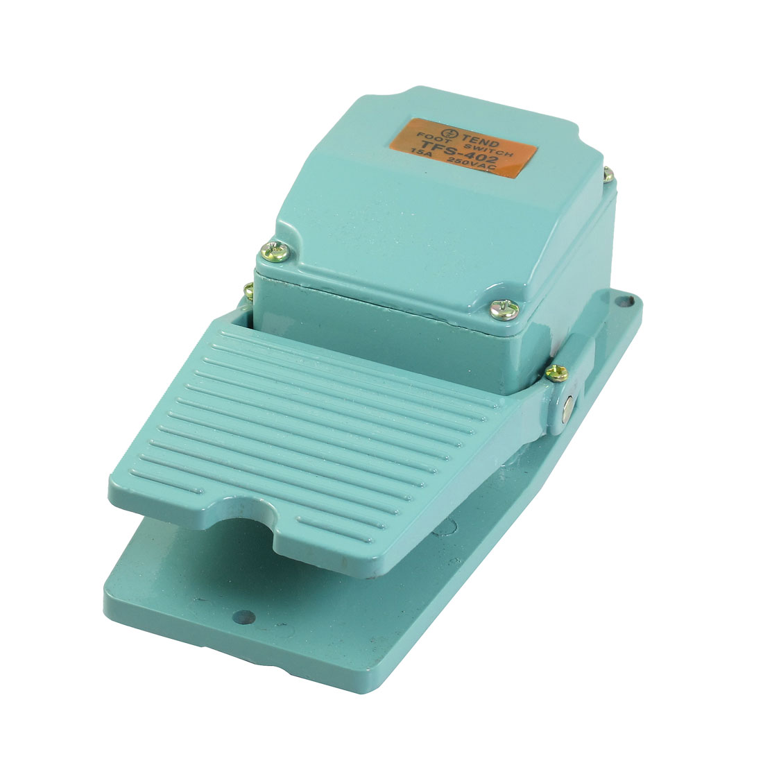 AC 250V 15A Nonslip Metal Momentary Industrial Power Stomp Foot Pedal Switch