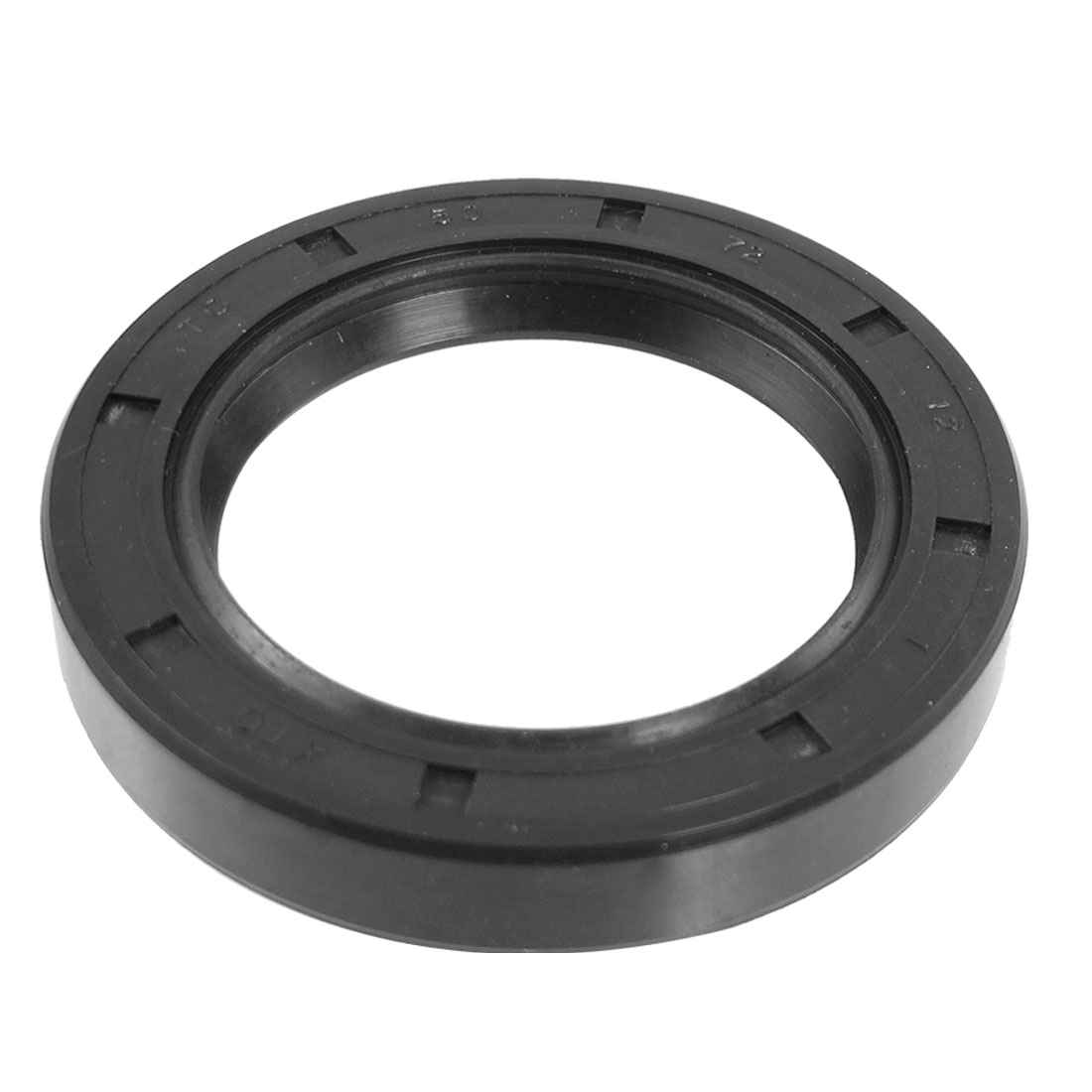 Black Nitrile Rubber Dual Lips Oil Shaft Seal TC 50mm x 72mm x 12mm