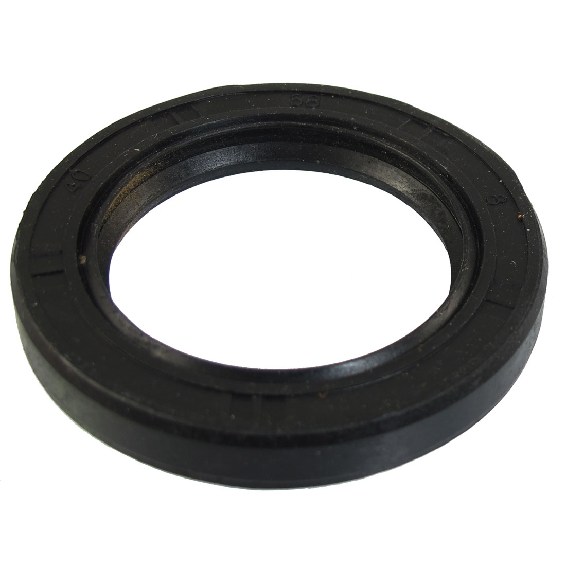 Black Nitrile Rubber Dual Lips Oil Shaft Seal TC 40mm x 58mm x 8mm