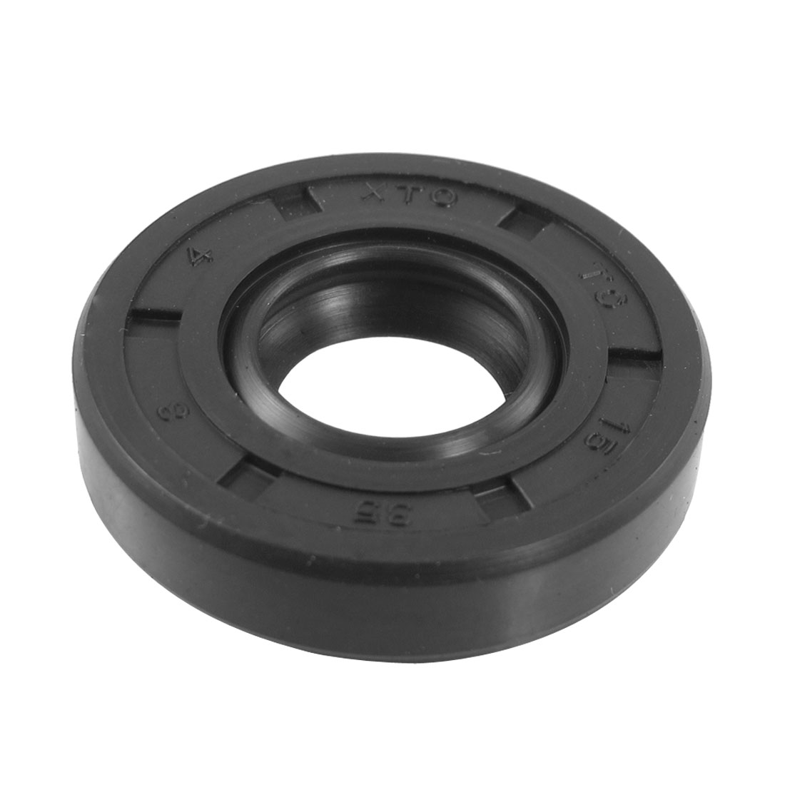 Black Nitrile Rubber Dual Lips Oil Shaft Seal TC 15mm x 35mm x 8mm