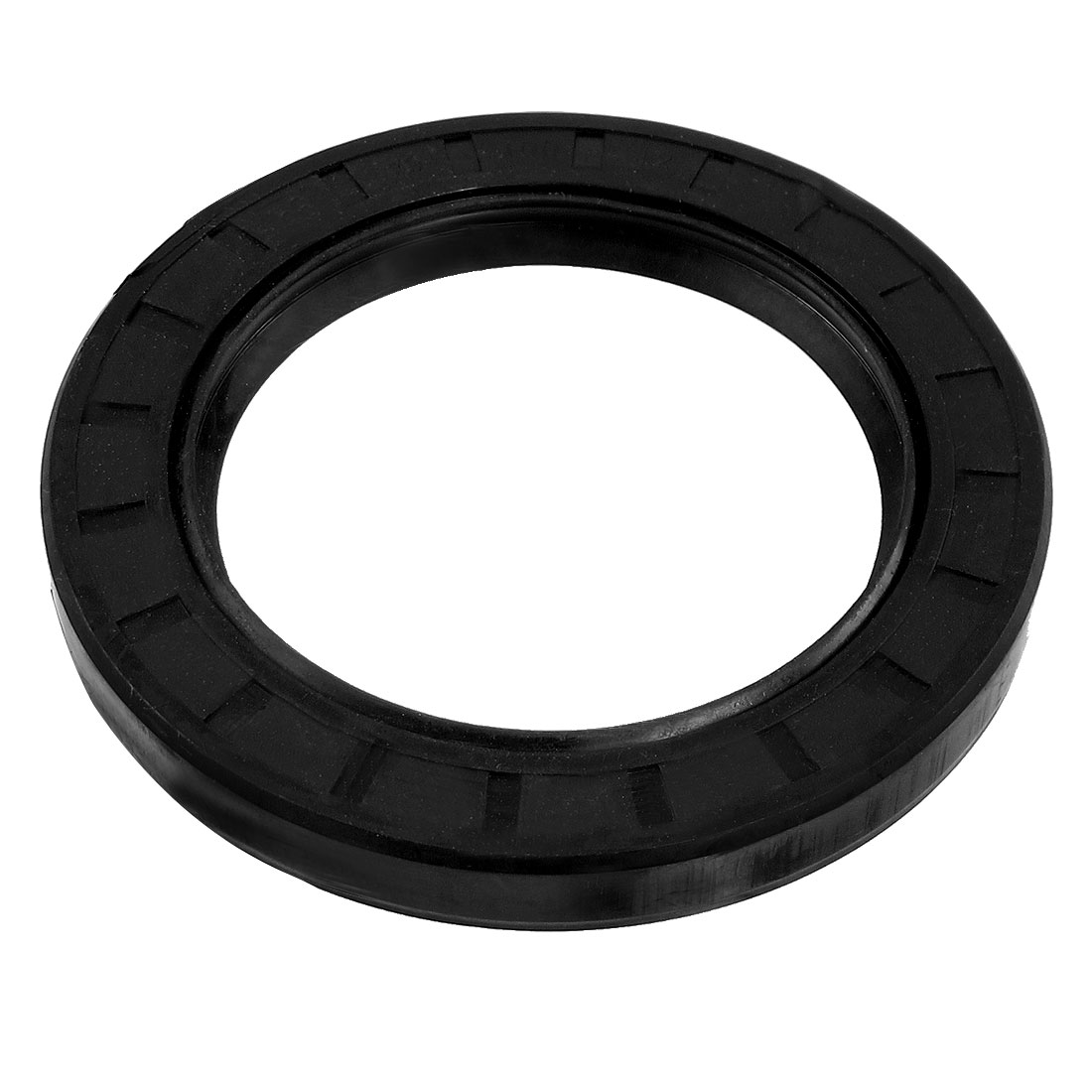 Steel Spring NBR Double Lip TC Oil Seal Black 70mm x 100mm x 12mm