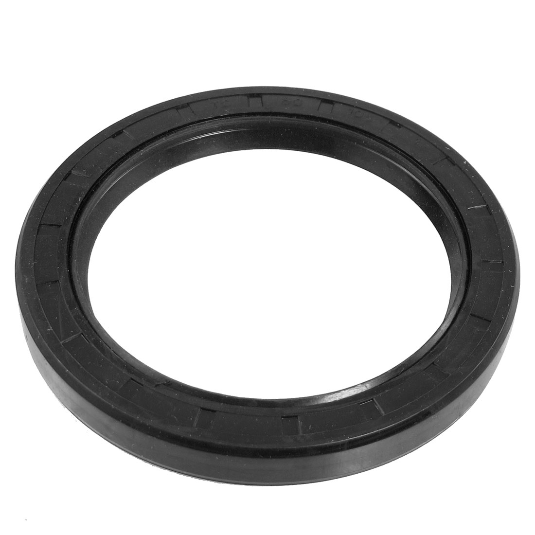 Steel Spring NBR Double Lip TC Oil Seal Black 80mm x 105mm x 12mm