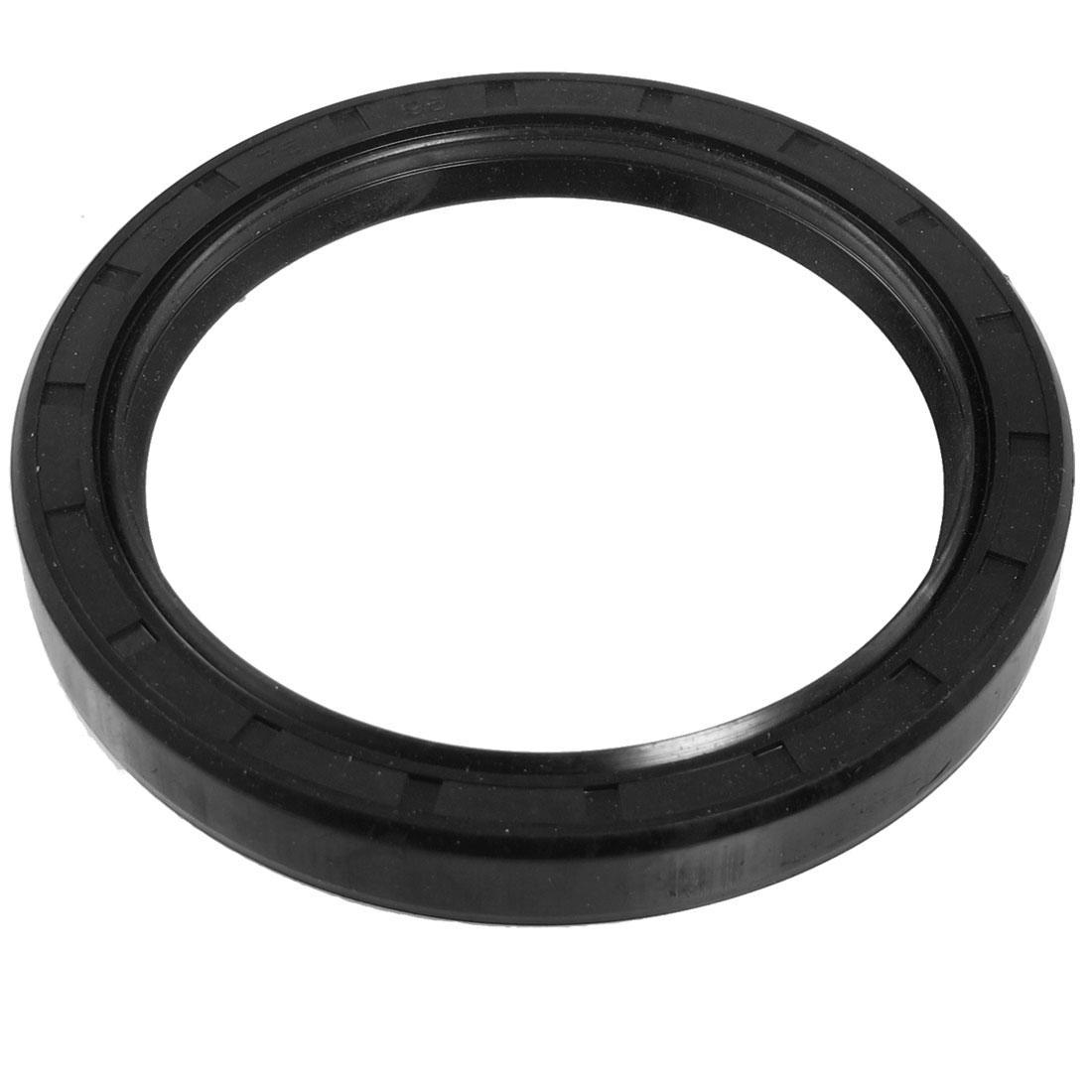 Black Nitrile Rubber Dual Lips Oil Shaft Seal TC 75mm x 95mm x 12mm