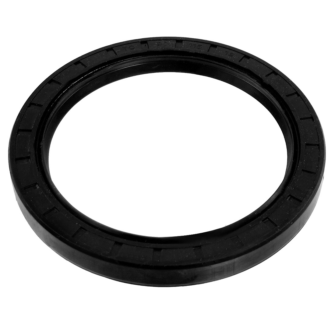 Steel Spring NBR Double Lip TC Oil Seal Black 90mm x 115mm x 12mm