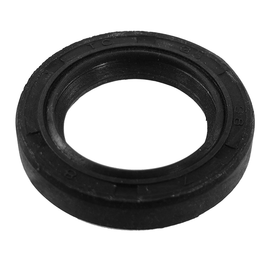 Steel Spring NBR Double Lip TC Oil Seal Black 25mm x 38mm x 8mm