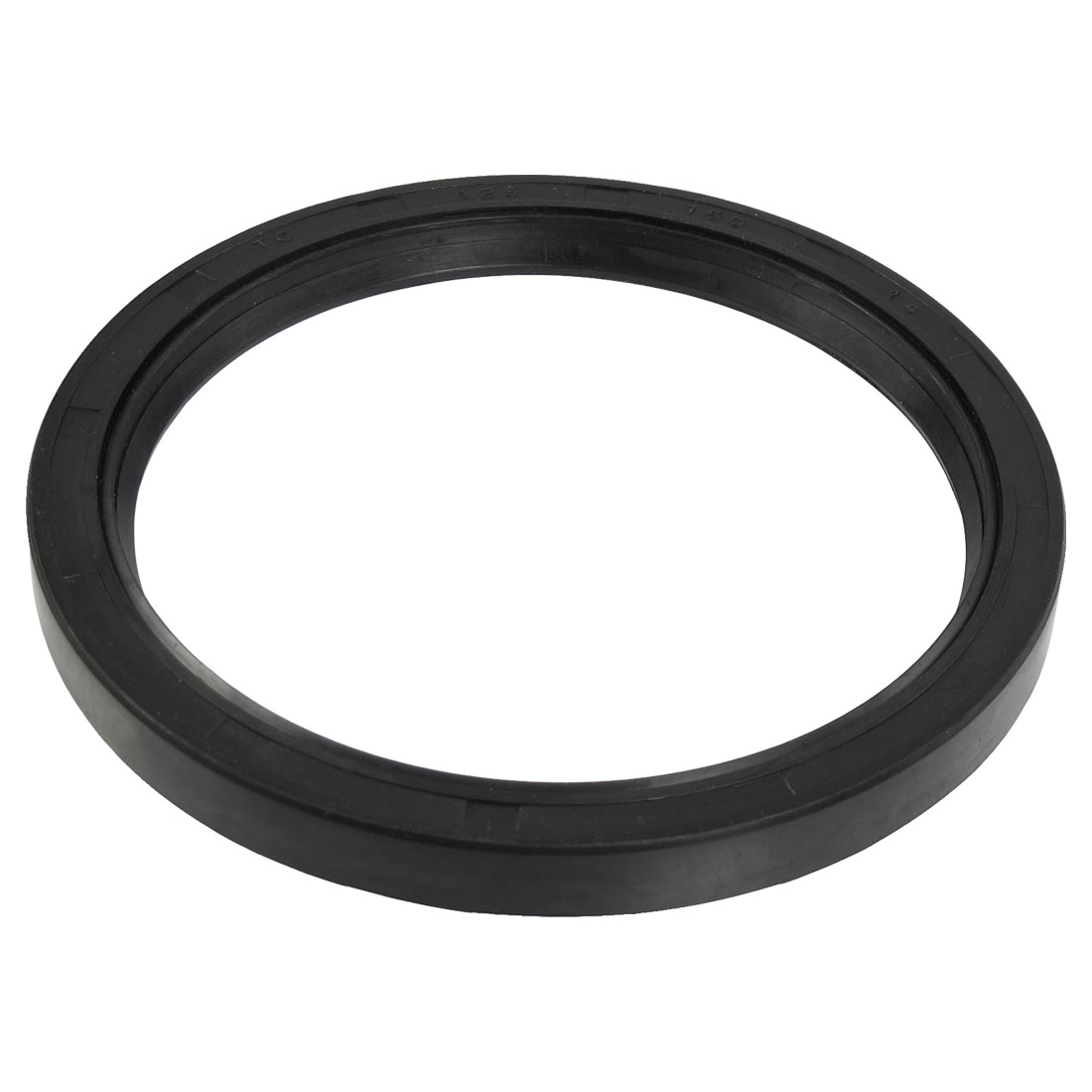 Steel Spring NBR Double Lip TC Oil Seal Black 125mm x 150mm x 14mm