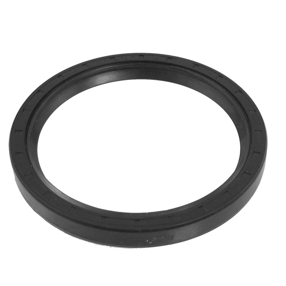 Black Nitrile Rubber Dual Lips Oil Shaft Seal TC 100mm x 120mm x 12mm