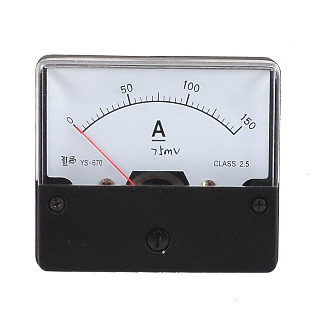 DC 0-150A Squre Type Analog Current Panel Meter White Black