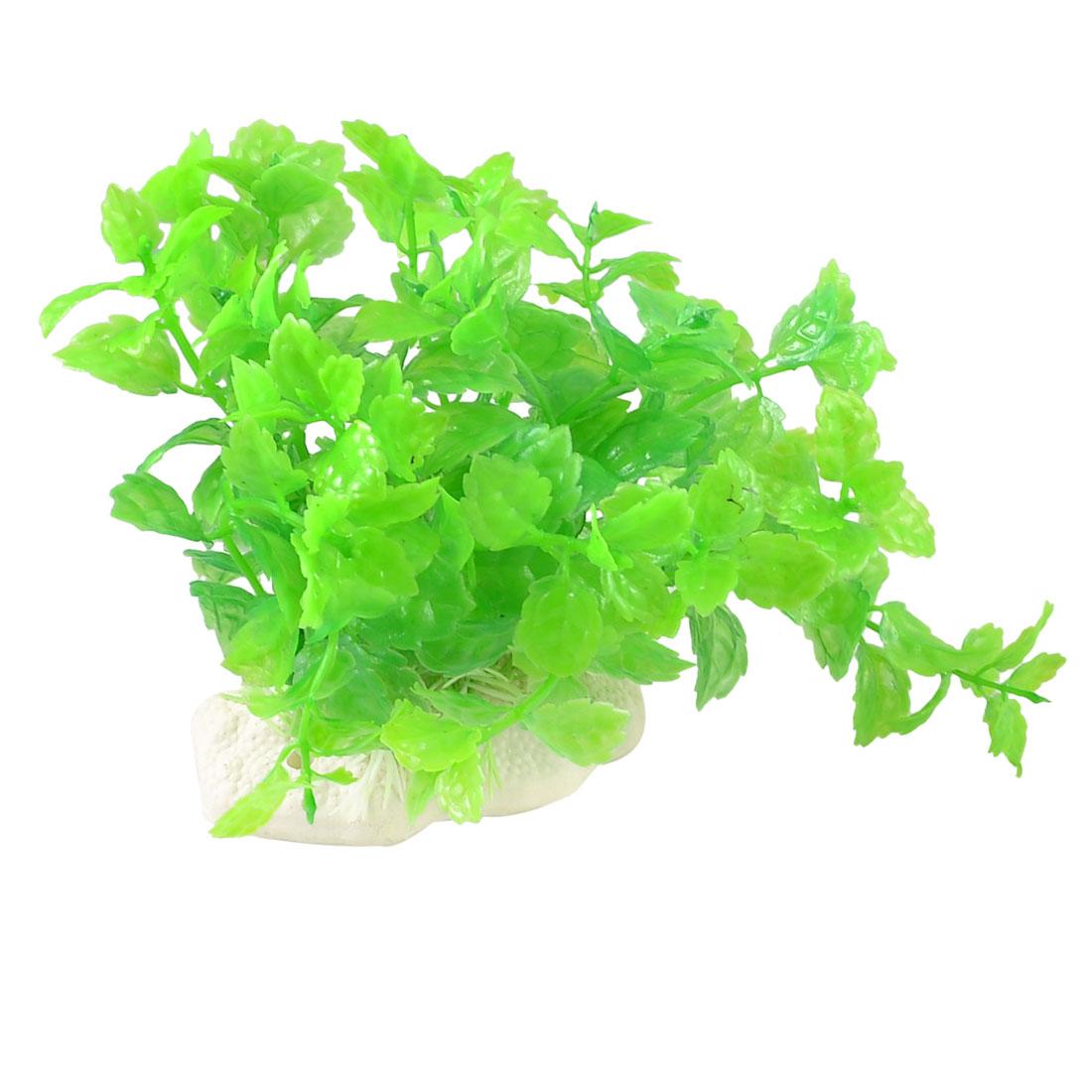 "5.9"" Height Artificial Green Grass for Fish Tank Aquarium"
