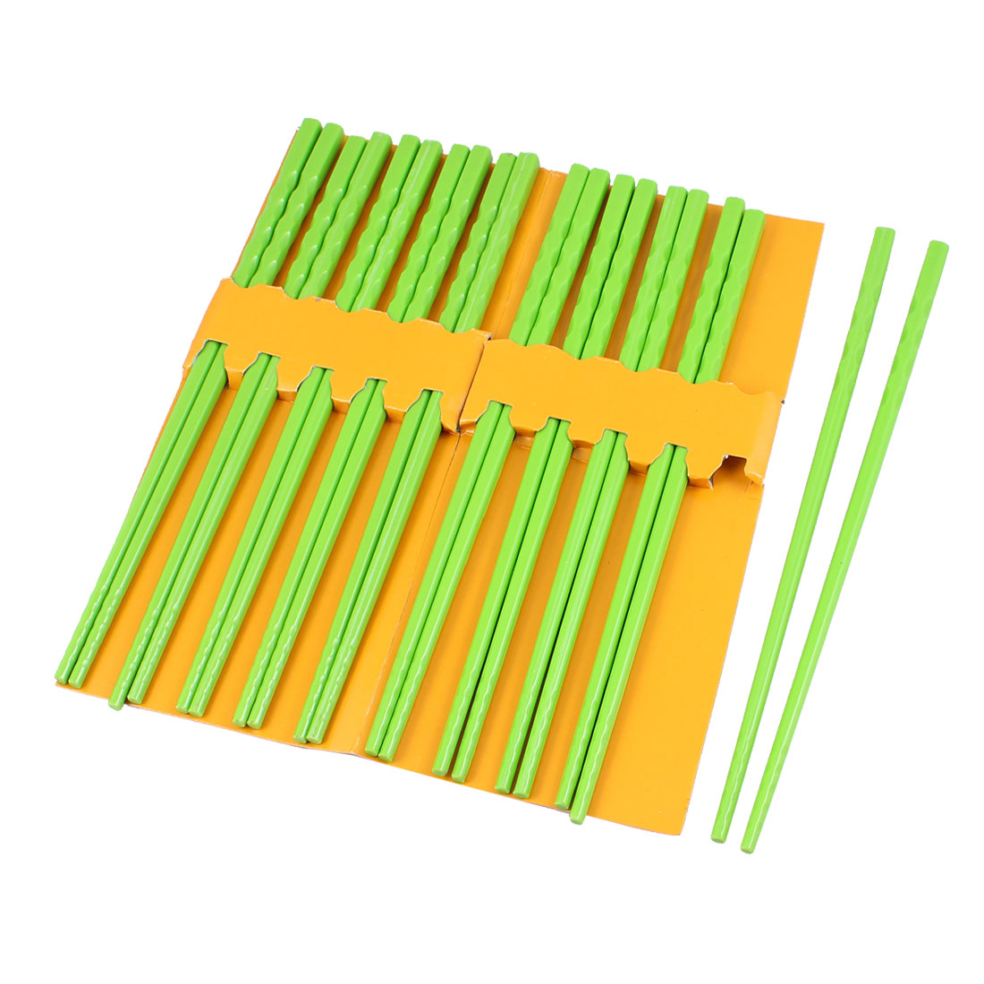 10 Pairs Kitchen Dishware Nonslip Plastic Chopsticks Green