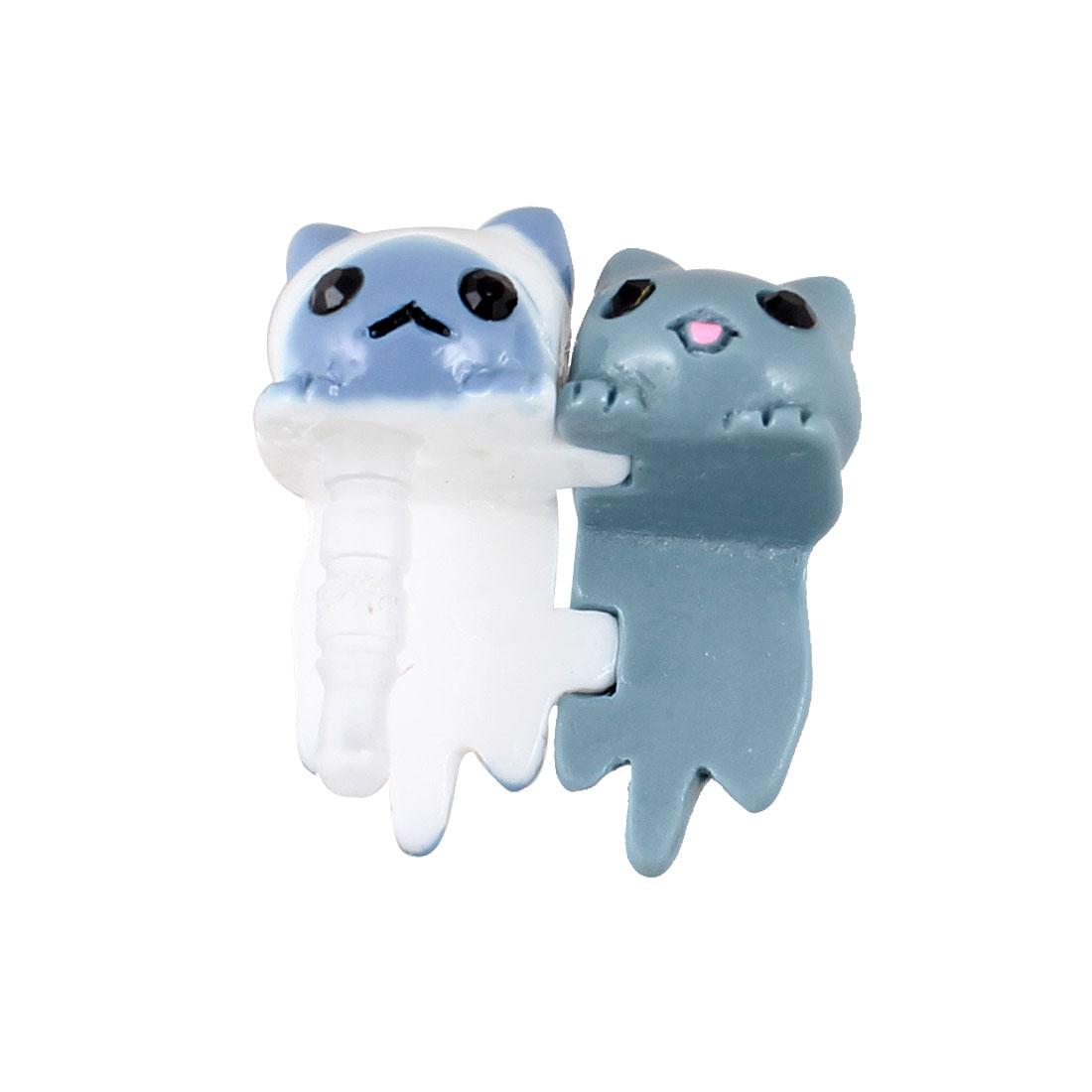 Cat Couples 3.5mm Earphone Anti Dust Cap Stopper for Smartphone
