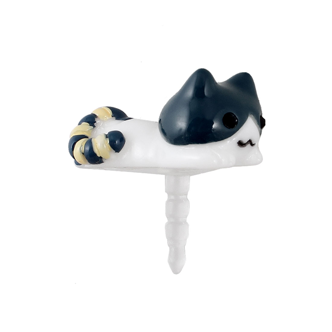 Lying Cat 3.5mm Earphone Anti Dust Cap Stopper Cover for Smartphone Cell Phone