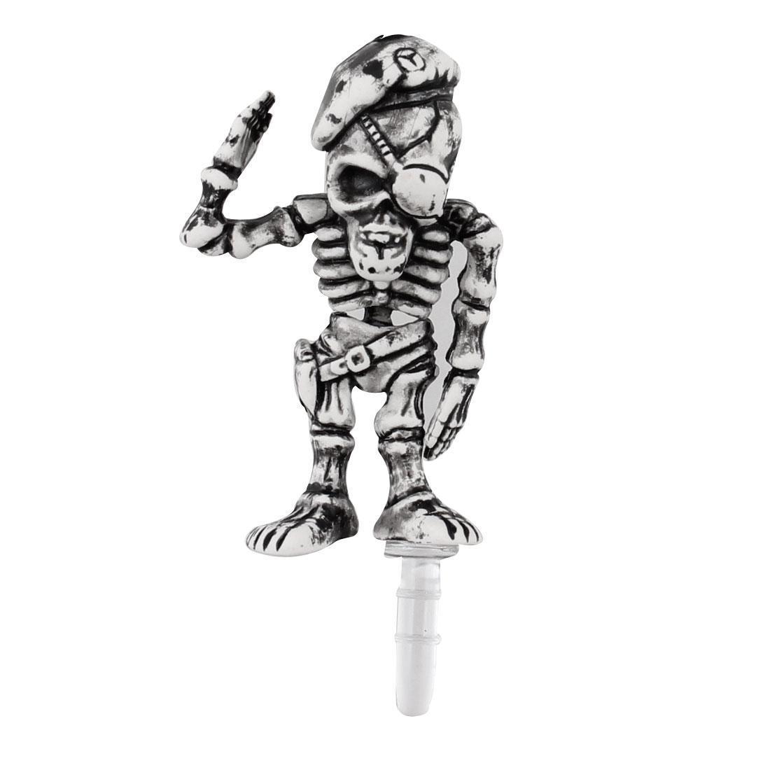 Vintage Style Skeleton 3.5mm Earphone Cap Dust Jack Stopper for Phone