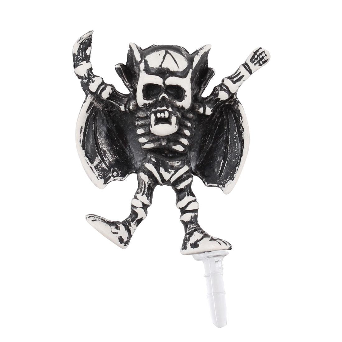 Skeleton King Decor Anti Dust 3.5mm Earphone Cap Jack for Phone