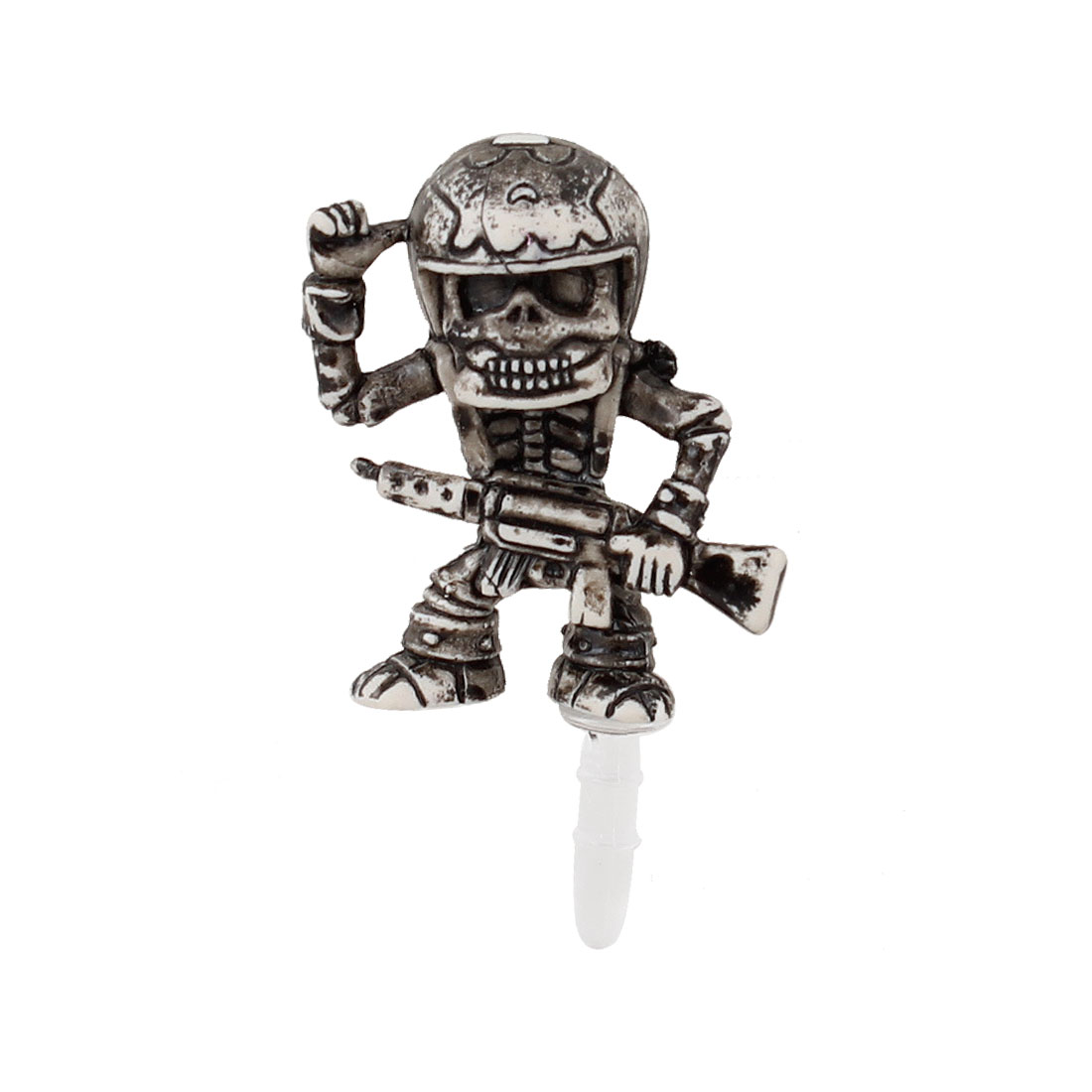 Vintage Style Soldier 3.5mm Earphone Cap Dust Jack Stopper for Phone