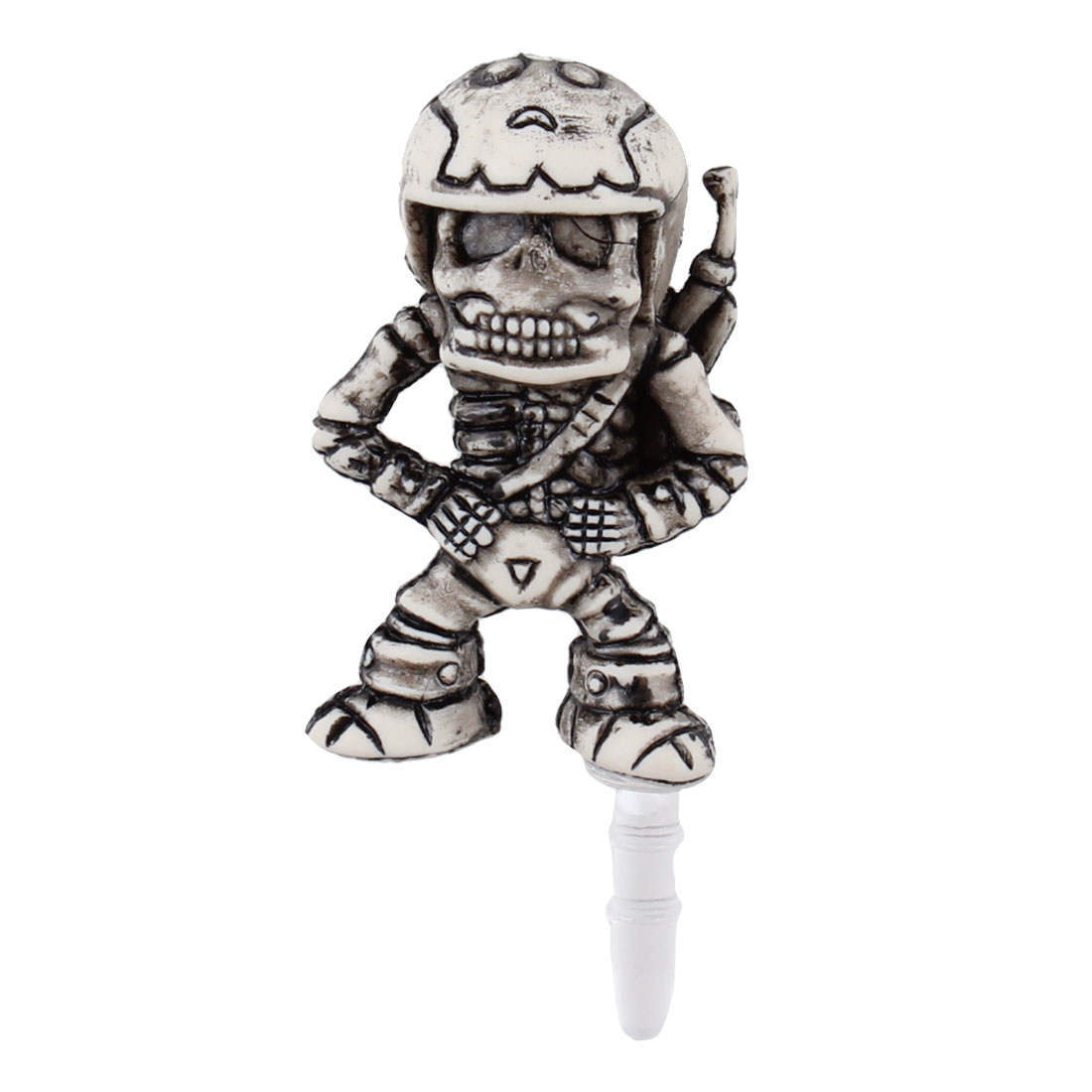 Retro Style Soldier 3.5mm Earphone Cap Dust Stopper for Phone