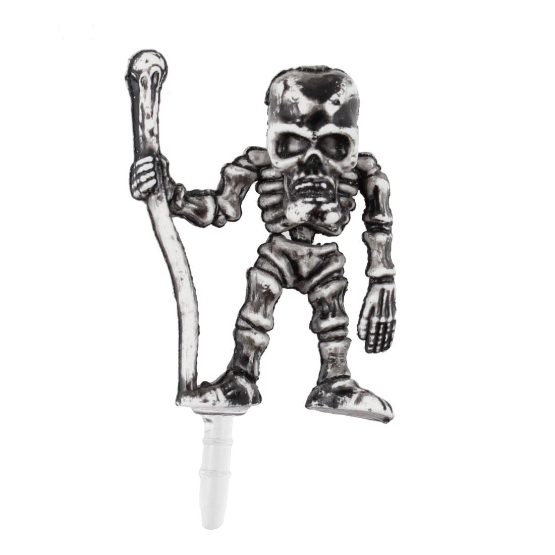 Vintage Style Skeleton Decor Dust 3.5mm Earphone Cap for Phone
