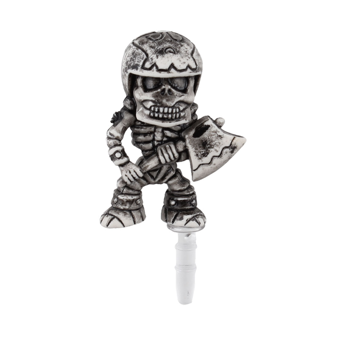 Retro Style Skeleton Decor Anti Dust 3.5mm Earphone Cap for Phone