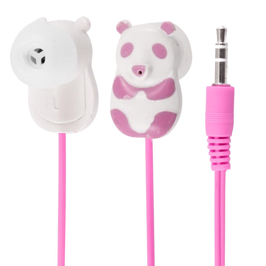 Pink Panda 3.5mm In Ear Stereo Headphone Earphone 1.1M for Phone