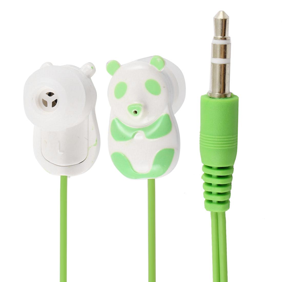 Green Panda 3.5mm In Ear Stereo Headphone Earphone 1.1M for Phone