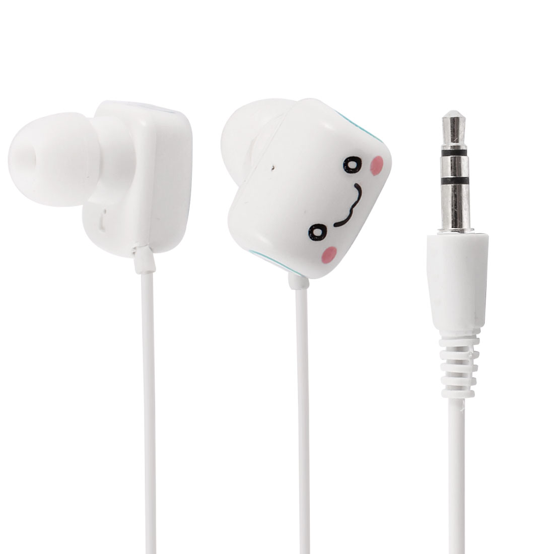 3.5mm White Green in Ear Headphone Earphone Headset for Phone 3G