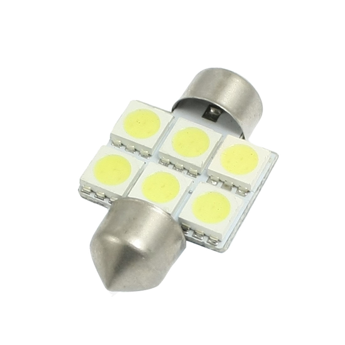 Auto Car White 6 SMD 5050 LED Festoon Interior Dome Light Lamp Bulb 31mm