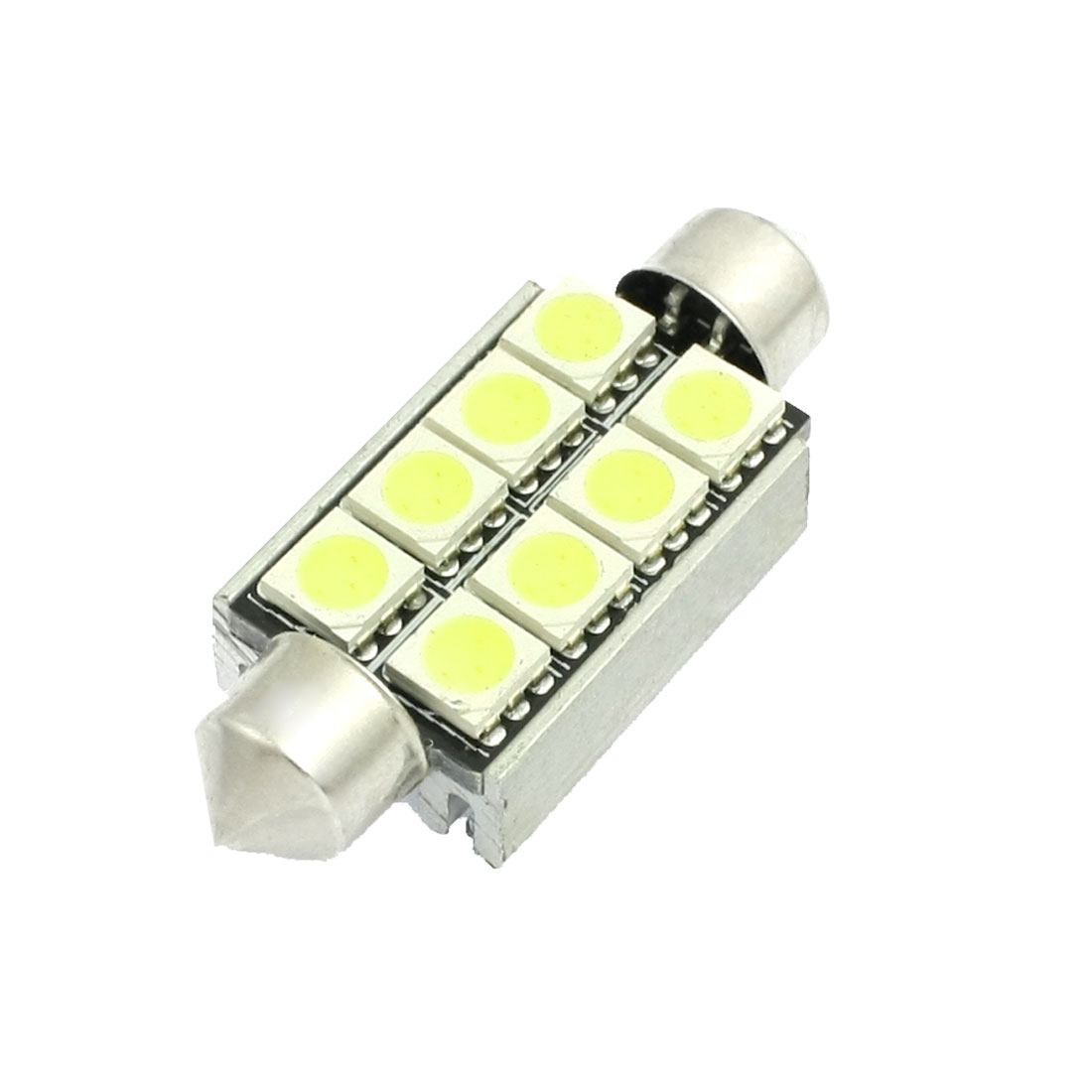 "White 8-LED 1.72"" 42mm 211-2 214-2 578 576 LED Bulbs For Car Map Dome Lights"