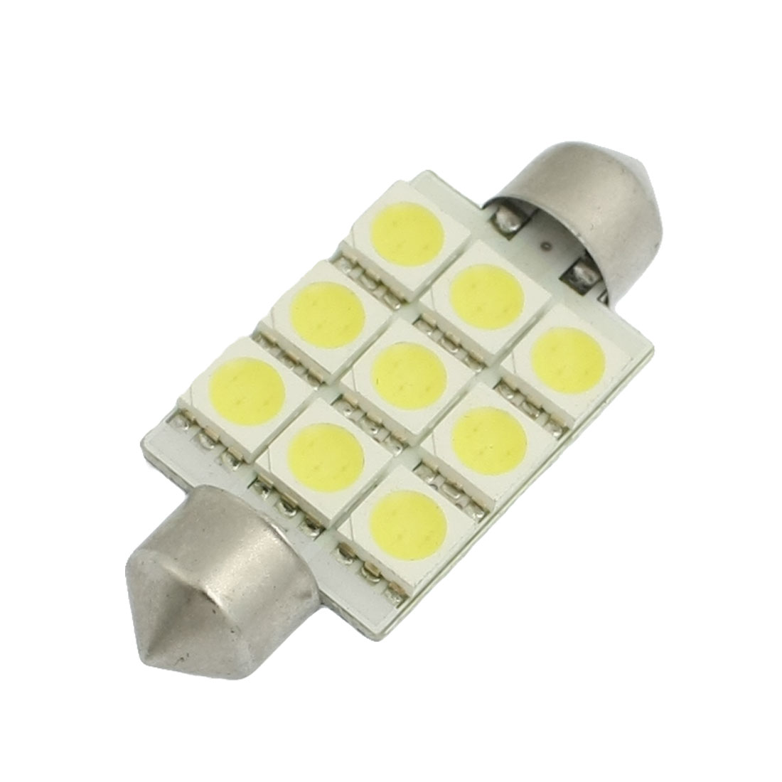 Car White 9 SMD 5050 LED Festoon Interior Dome Light Lamp Bulb 41mm