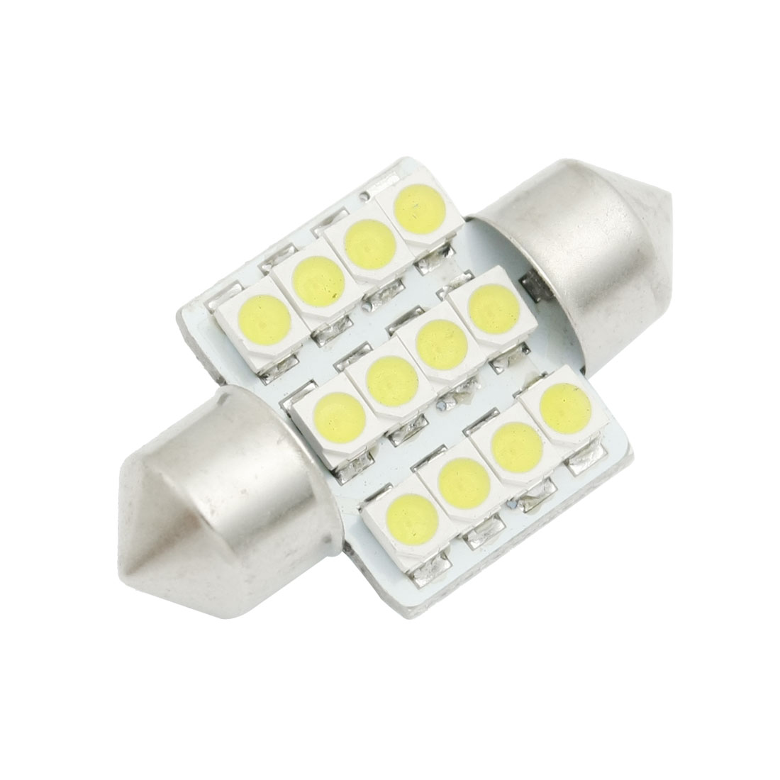 "White 1.25"" 31mm 12-SMD DE3175 DE3022 LED Bulbs For Car Dome Lights"