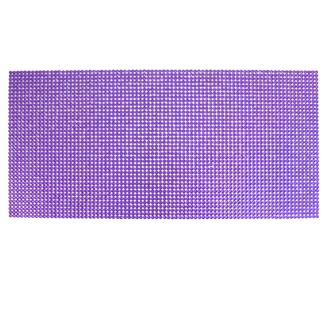 Car Interior Adhesive Purple Plastic Crystal Bling Sticker Decoration