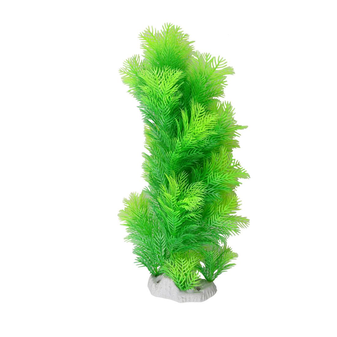 "Underwater Decor Green Artificial Plant Grass 13"" for Aquarium"