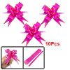 10 Pcs Gift Wrap Bowtie Designed DIY Pull Bow Ribbons Fuchsia for Wedding