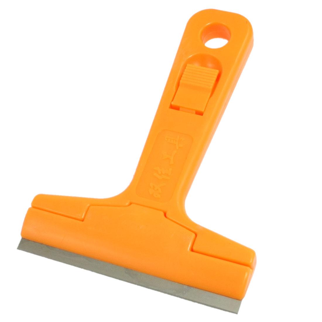 Antislip Plastic Handle Household Floor Wall Paint Scraper Orange