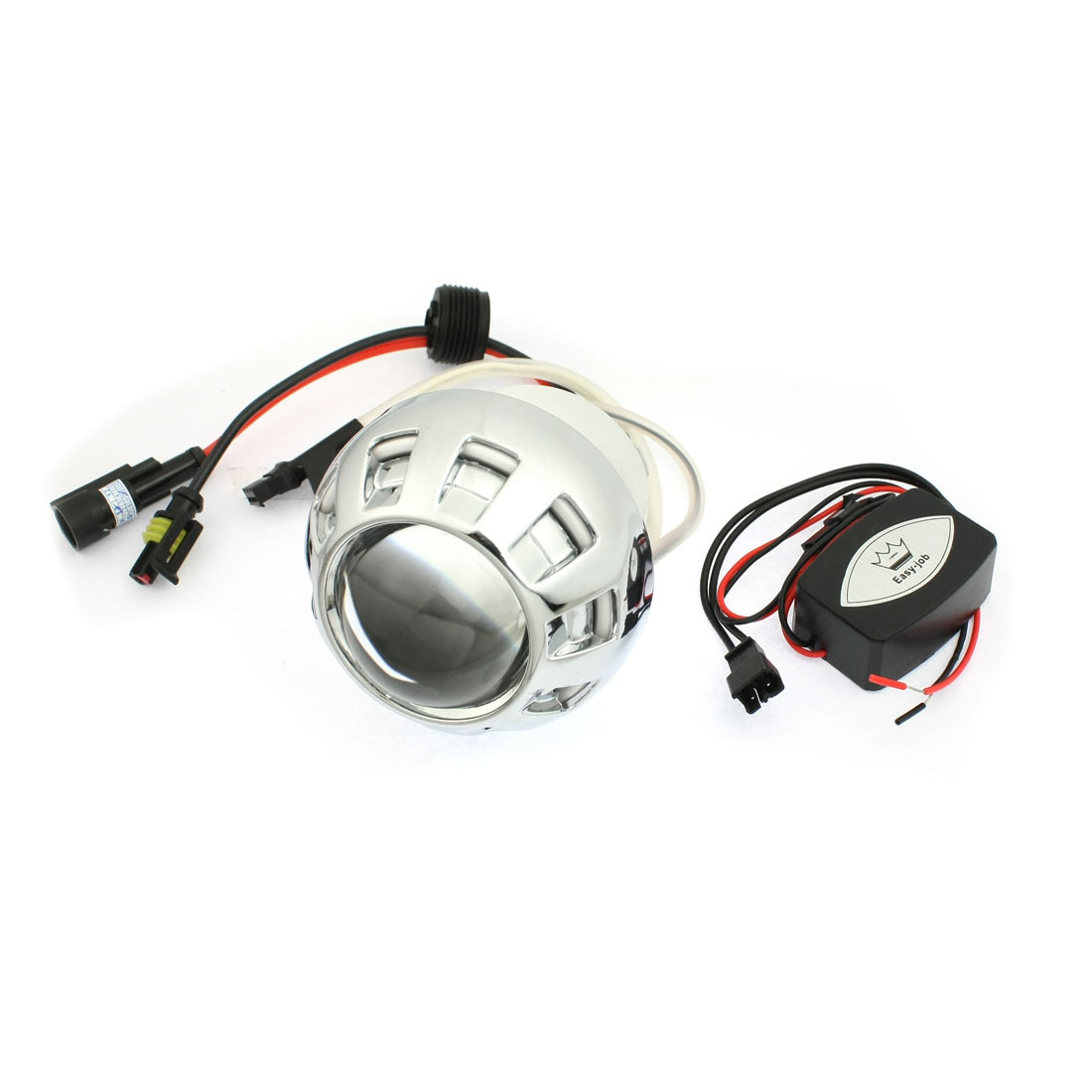 DC 12V 3W Motorcycle Motorbike HID Xenon Projector White Lens Lamp Kit