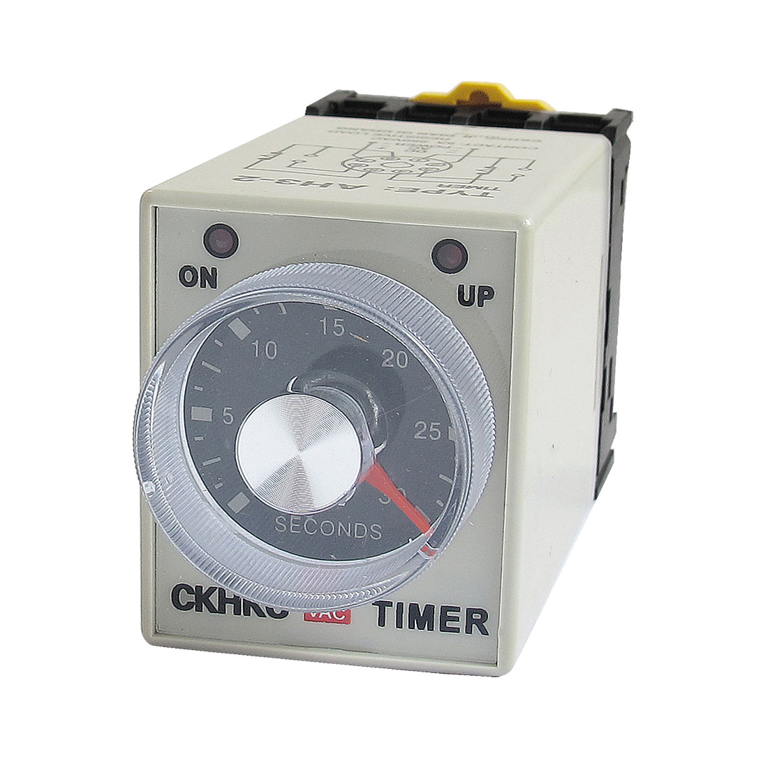 AH3-2 AC 220V 8 Pins 0-30 Seconds 30S Power on Delay Timer Time Relay w Socket
