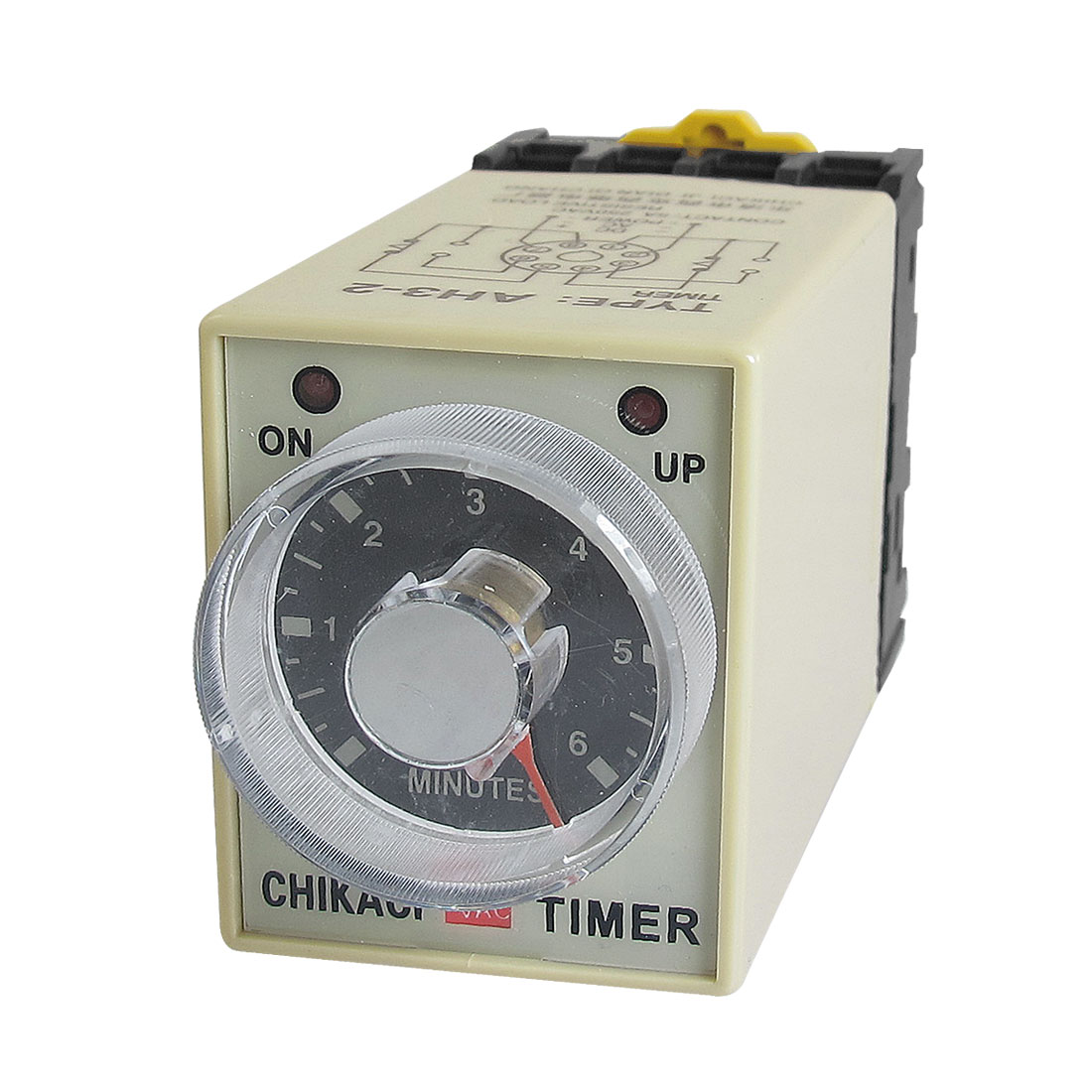 AH3-2 AC 220V 8 Pins 0-6 Minutes 6Min Power on Delay Timer Time Relay w Socket