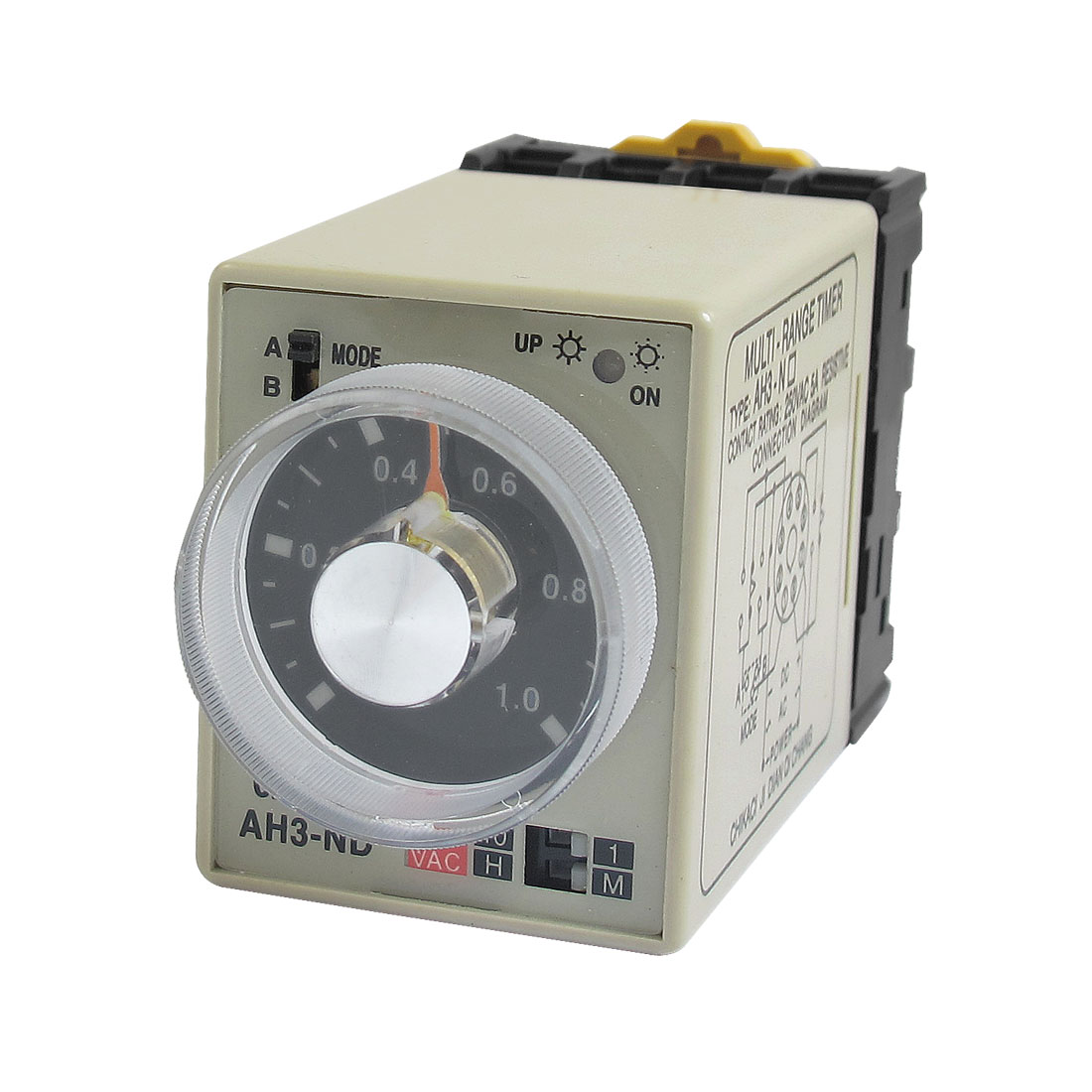 AC 220V AH3-ND 8 Pins 1M-10H 0-1M 0-10Hours Power on Delay Time Relay w Socket