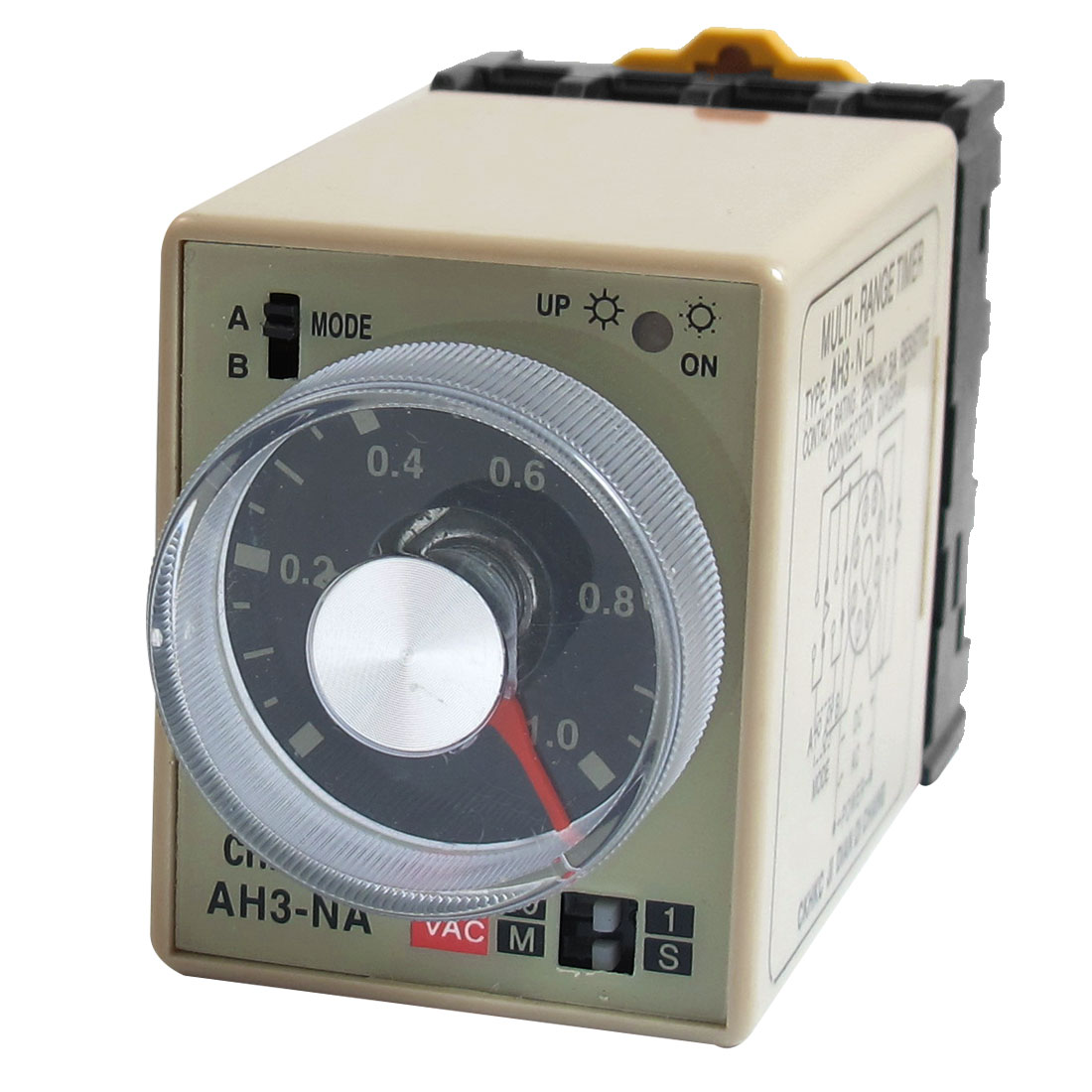 AC 220V AH3-NA 8 Pins 1S - 10M 0-1S 0-10M Power on Delay Time Relay w Socket