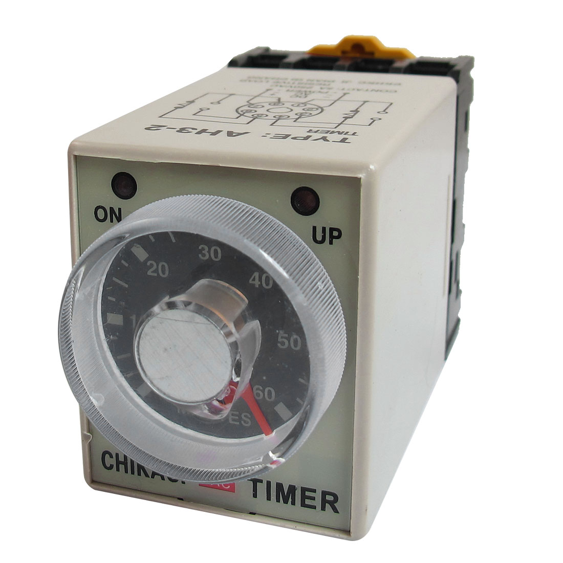 AH3-2 AC 220V 8 Pins 0-60 Minutes 60Min Power on Delay Timer Time Relay w Socket