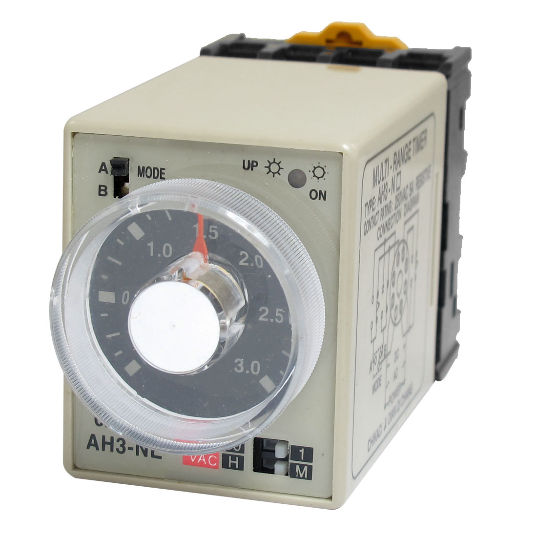 AC 220V AH3-NE 8 Pins 3M-30H 0-3M 0-30H Power on Delay Time Relay w Socket