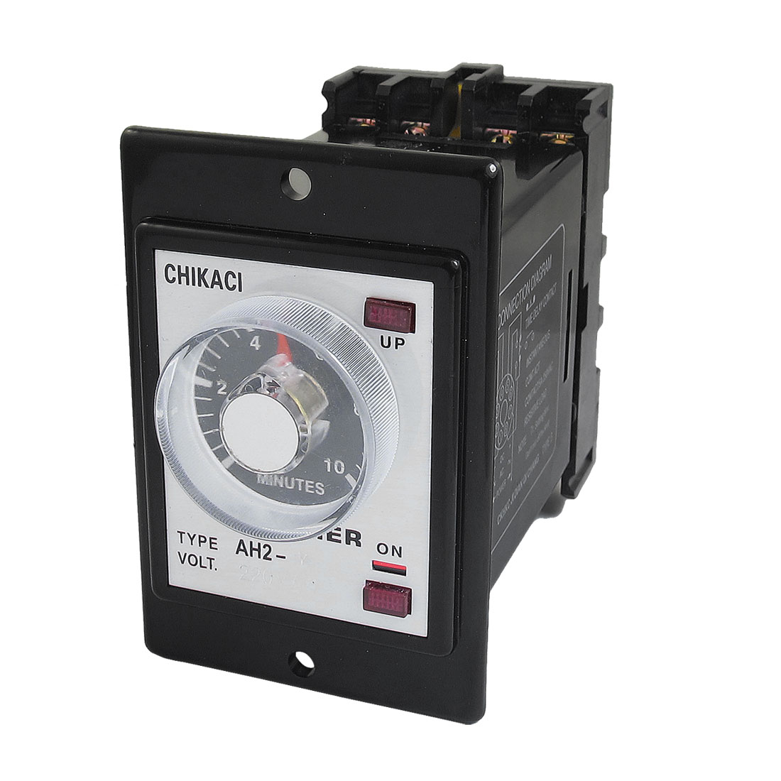 DIN Rail 2NO 2NC 8P 10 Minutes 10Min Delay Timer Time Relay 220VAC AH2-Y w Base