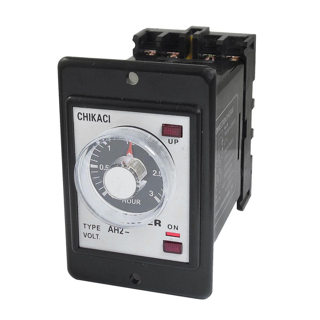 AH2-Y AC 220V 8-Pin DPDT 0-3 Hours 3H Power on Delay Timer Time Relay w Socket