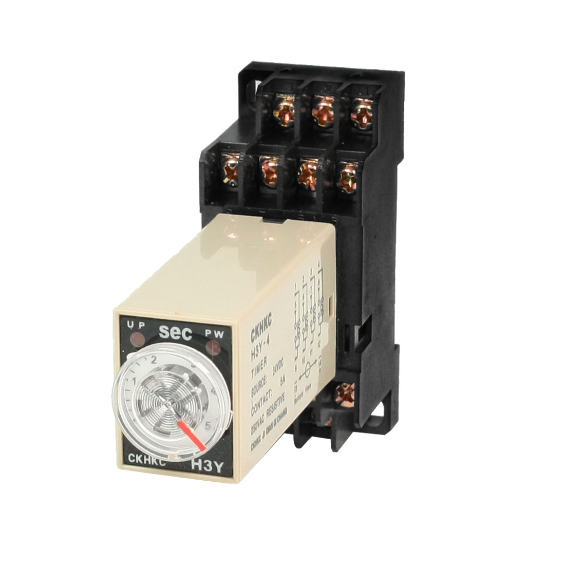 H3Y-4 24VDC 4PDT 5 Seconds 5S 14P Terminals Delay Timer Time Relay w Socket