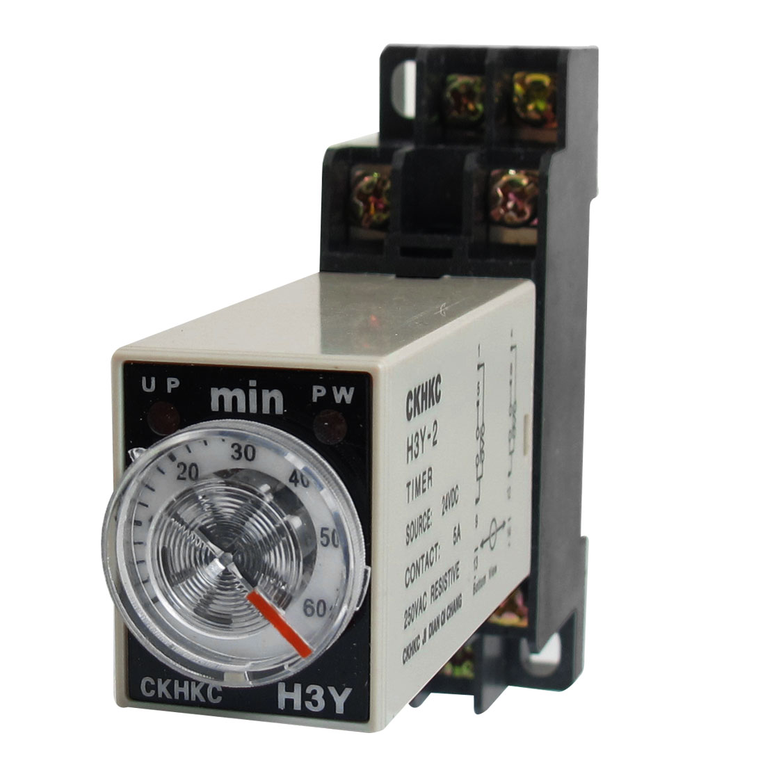 H3Y-2 24VDC DPDT 60 Minutes 60Min 8P Terminals Delay Timer Time Relay w Base