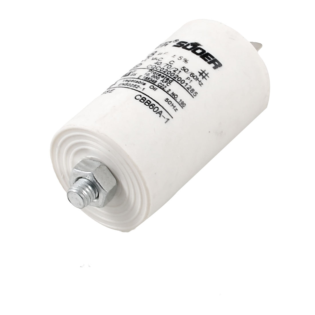 CBB60A-1 Polypropylene Film AC 450V 18UF Motor Run Capacitor for Washing Machine